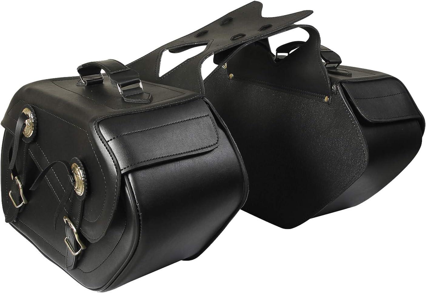 Motorrad Leder Satteltaschen 1 Paar Gepäcktaschen Satteltasche Chopper St 001 Auto