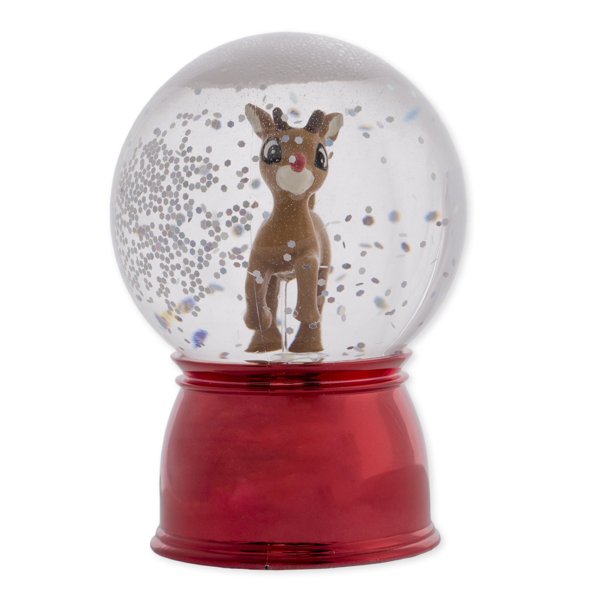 Roman 46750 - 3'' Rudolph Wibble Wobble Color Changing LED Mini Glitter Dome (Battery Operated)