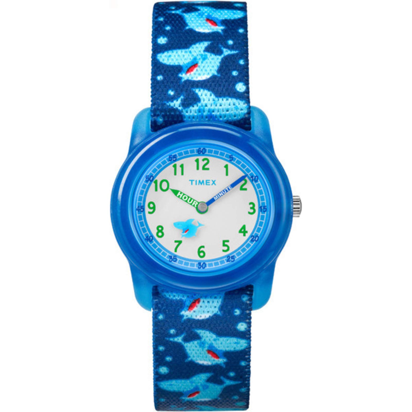 Timex Youth Kids Analog 28mm Elastic Fabric Strap  Blue  Watch TW7C13500 by Timex