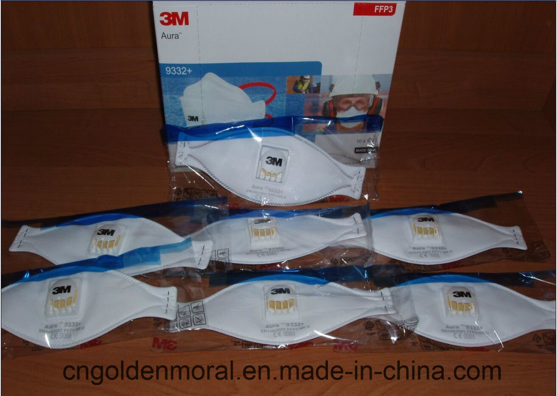 3M Aura 9332 - Mascarillas plegadas desechables, 1 caja con 10 má scaras 1 caja con 10 máscaras
