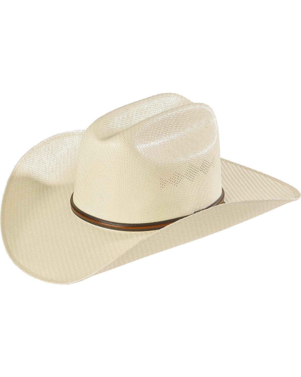 Twister Men's 5X Shantung Double S Straw Cowboy Hat Natural 6 7/8 T71563