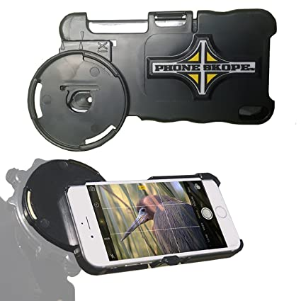 Phone Skope Smartphone Optics Digiscoping Case for Binoculars, Spotting Scopes, Telescopes, Microscopes,