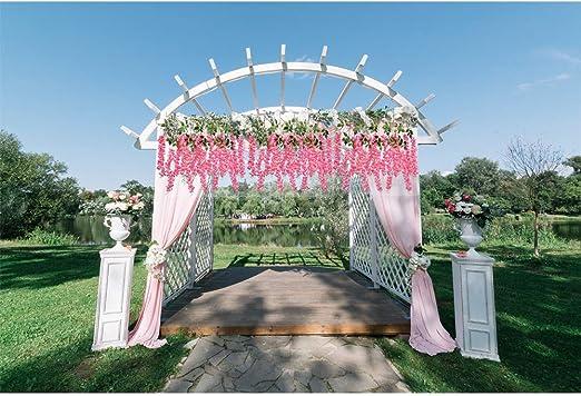 Wisteria Flores artificiales con tallo 3.6 pies/pieza, Románticas ...