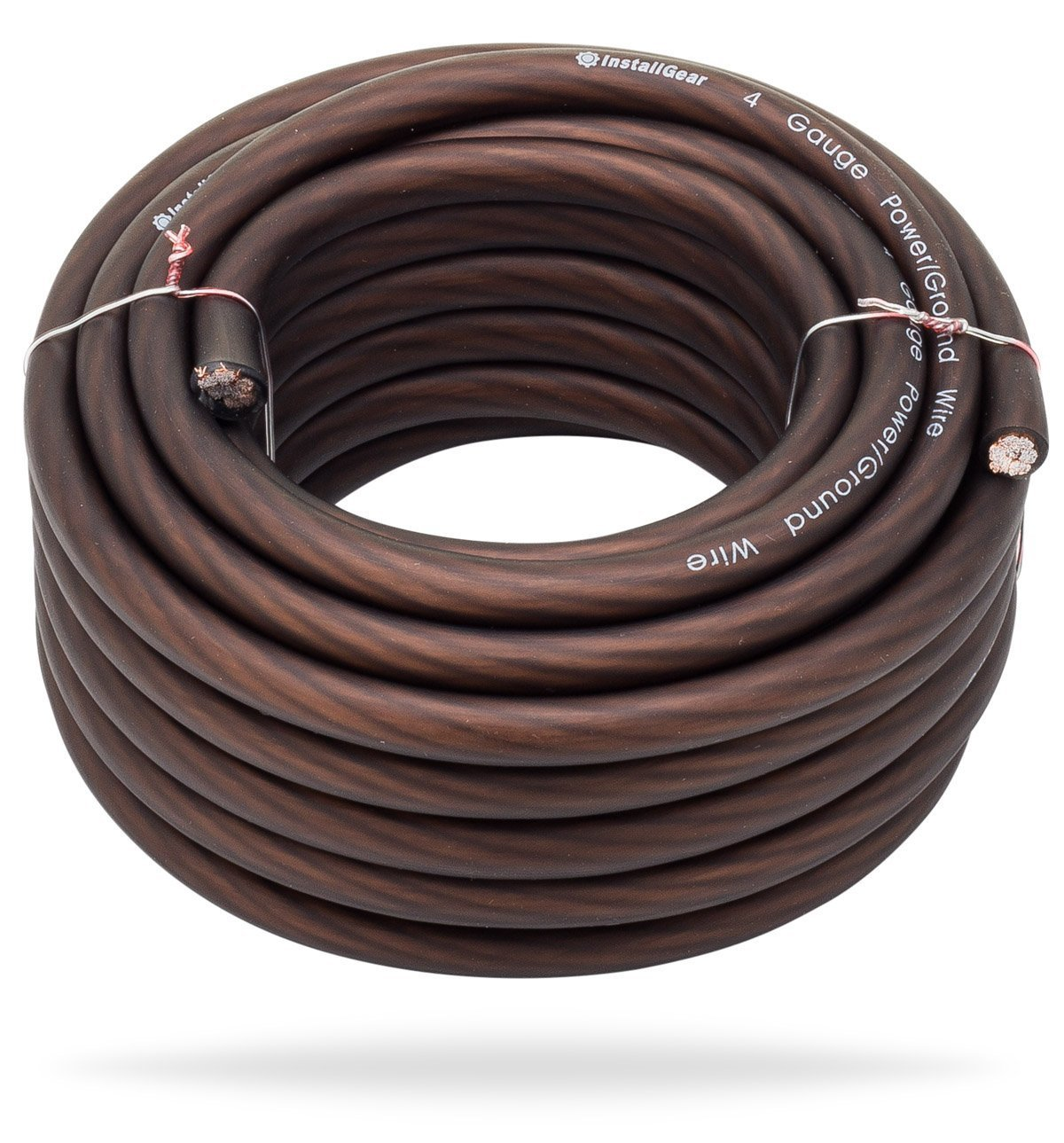 InstallGear 4 Gauge Black 25ft Power/Ground Wire - OFC (99.9% Oxygen-free Copper)