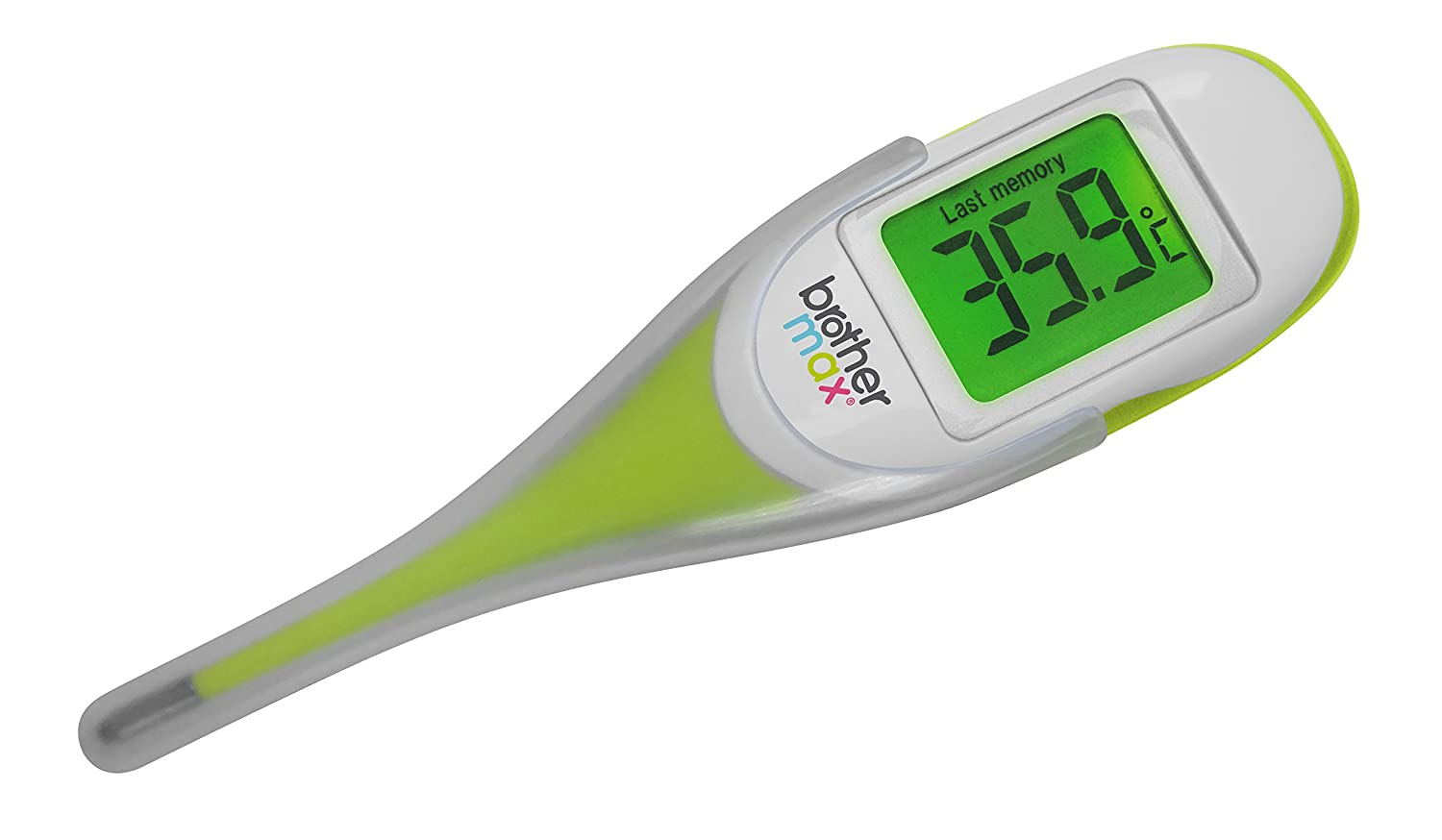 brother max® Digital Thermometer with Flexi Tip Accurate reading to 0.1Deg in as little as 8 seconds. Ideal for Oral, Armpit, Axillary and Basal Temperature Measurement 49852