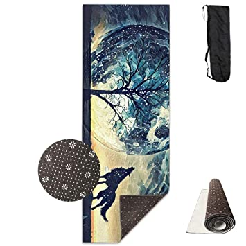 Amazon.com: Howling Wolf and Bare Tree Yoga Mat - Advanced ...