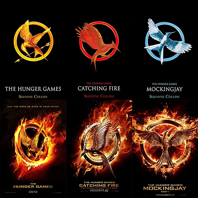 The Hunger Games Mocking Jay Catching Fire Necklace Range Single