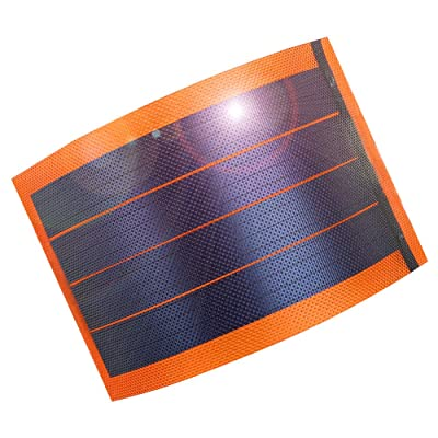 JIANG Flexible Amorphous Small Thin Film Solar Panel Portable Solar Power Charger DIY 1W 6V Photovoltaic Cells (red)