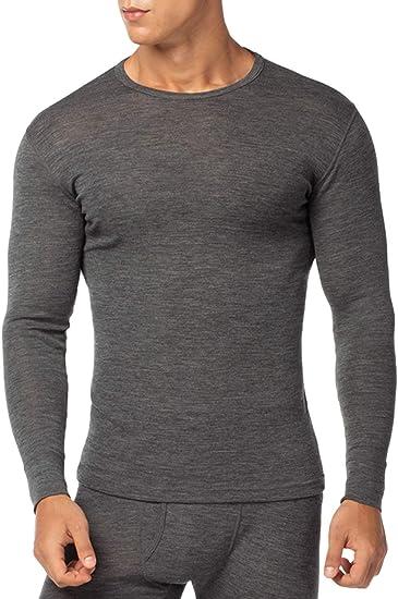 NEU Langarmshirt Zip Funktionsshirt Laufshirt Merino Baselayer 100/% Merinowolle