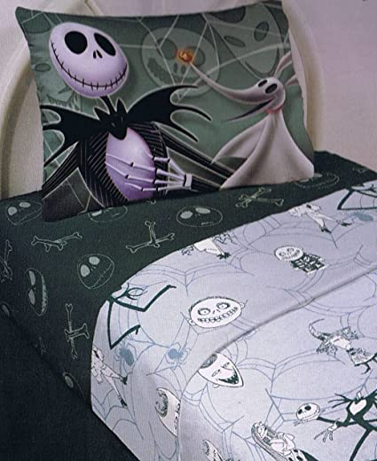 the nightmare before christmas sheet set full size 4 pieces - Nightmare Before Christmas Bedding