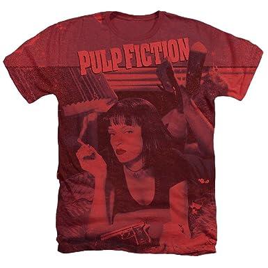 3a9621703 Amazon.com: A&E Designs Pulp Fiction Shirt Mia Wallace Poster ...