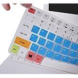 Keyboard Skin for Acer Aspire E 15 E5-575 E5-576G E5-574G E5-573G ES15 ES1-572/Aspire E 17 E5-772G/Aspire V15 V17 VN7-592G VN7-792G F15 F5-571 F5-573G/Aspire 3 A315/Aspire 7 A715, Candy Blue