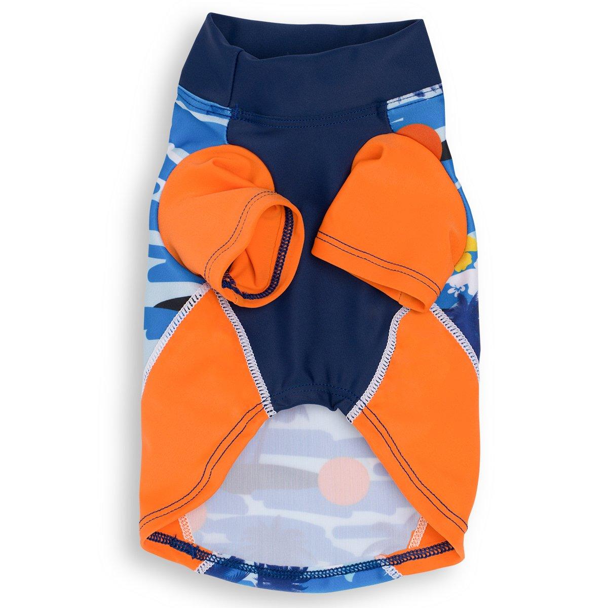 1b6347023 Amazon.com : PlayaPup Dog Sun Shirt (UPF 50+), Flaming Blue Tuga, X-Small :  Pet Supplies
