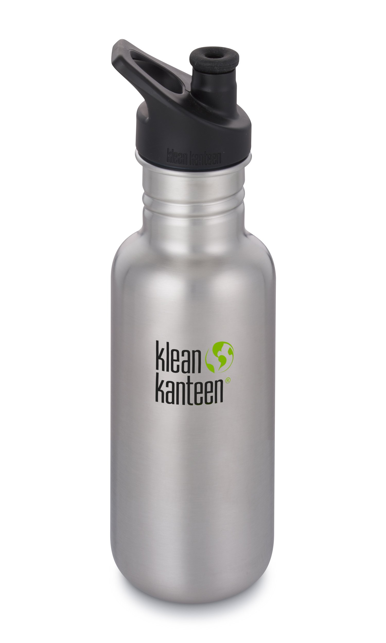 Klean Kanteen 18oz Classic Stainless Steel Water Bottle Single Wall with Leak Resistant Sport Cap 3.0 - Brushed Stainless by Klean Kanteen