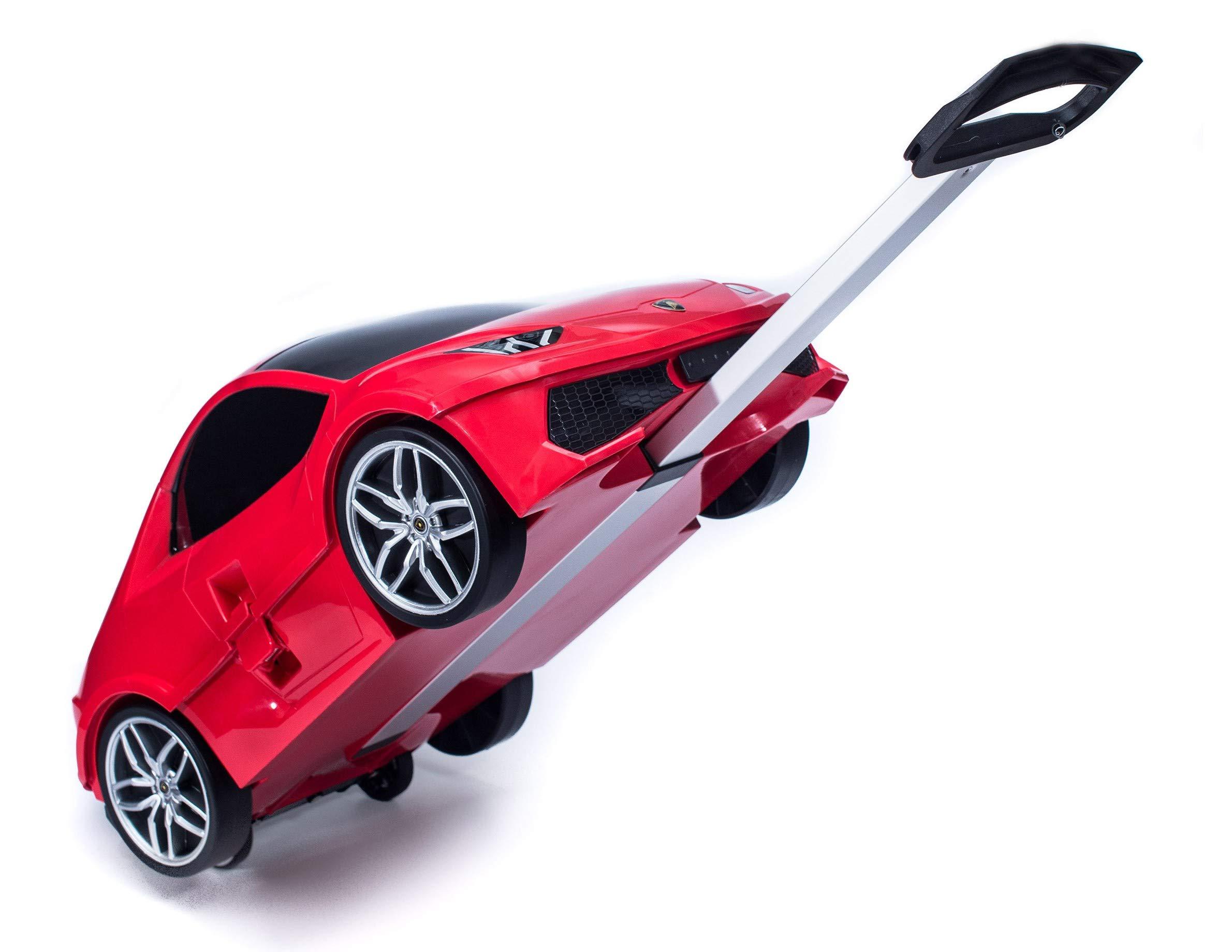 Ridaz Lamborghini Carry-on Hand Luggage for kids, Red Lamborghini