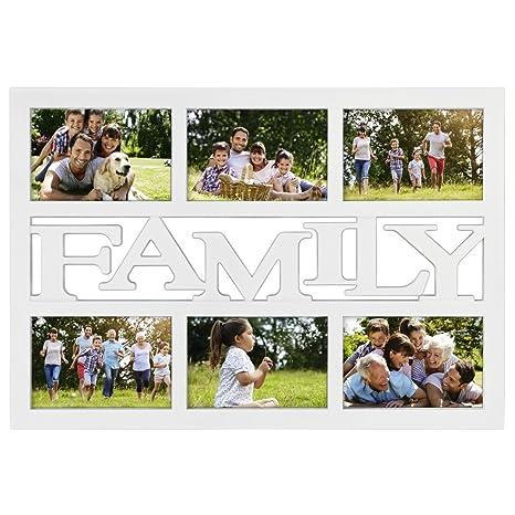 Hama Budapest - Family Blanco Portafotos múltiple - Marco (Vidrio, De plástico, Sintético
