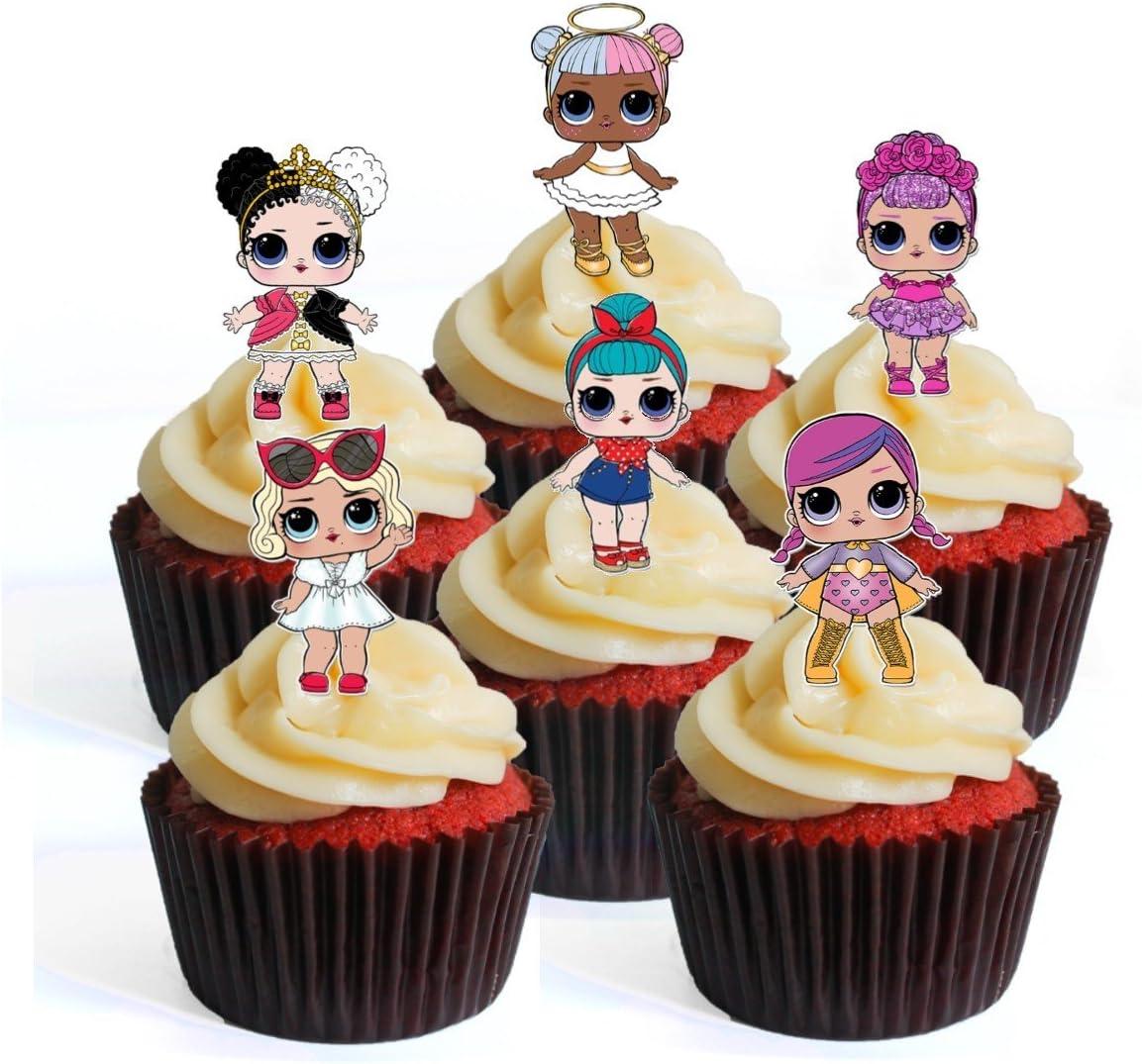 12 LOL Surprise Muñeca PRECUTO - Decoración comestible para ...