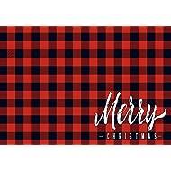 Unique Textile Printing Merry Christmas - Buffalo Check Plaid Welcome Carpet Door Mat