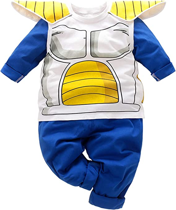Kids Toddler Infant Baby Boys Clothes Halloween Cosplay Funny Clothes Tops Sweatsuit+Pants Outfit Set