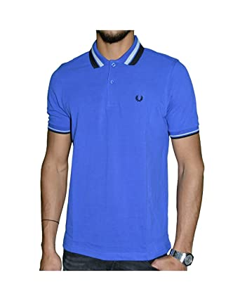 FRED PERRY - Polo para Hombre Slim Fit M7386 - azul, M: Amazon.es ...