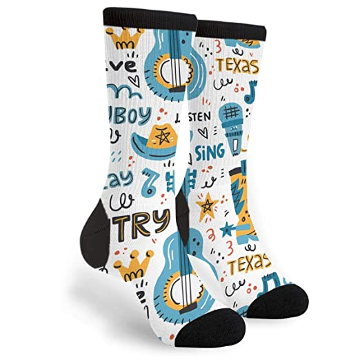 Amazon com: Unisex Fun Novelty Crazy Crew Socks Various Country