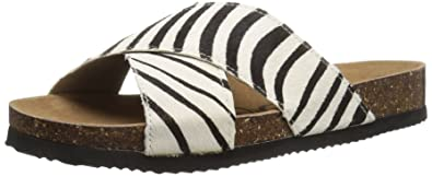 Naughty Monkey Womens Magdalena Slide Sandal White Size 85