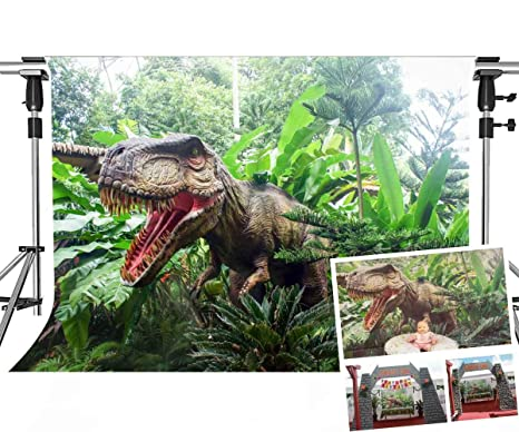 MEETS 7x5ft Jurassic Park Backdrop Dinosaur Green Plant Photography  Background Themed Party Photo Booth YouTube Backdrop GEMT886 …