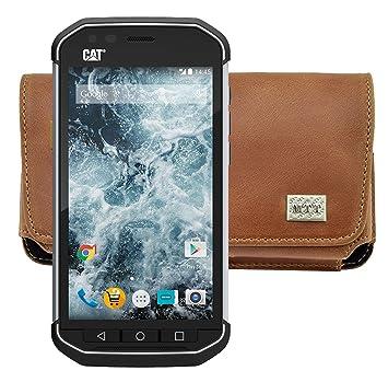 322b84ec07d94 MTT Étui horizontal pour téléphone portable Caterpillar CAT S30 horizontal  Housse en cuir Étui