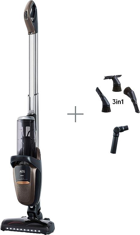 AEG FX9-1-MBM Aspiradora Escoba Sin Cable 360 Cepillo extensible, Bateria 36V de hasta 60 Minutos, 3 Velocidades, Ergonómico, 82dB, Función Parking, Luces Cepillo LED, Depósito 0.7L,Bronce: Amazon.es: Hogar