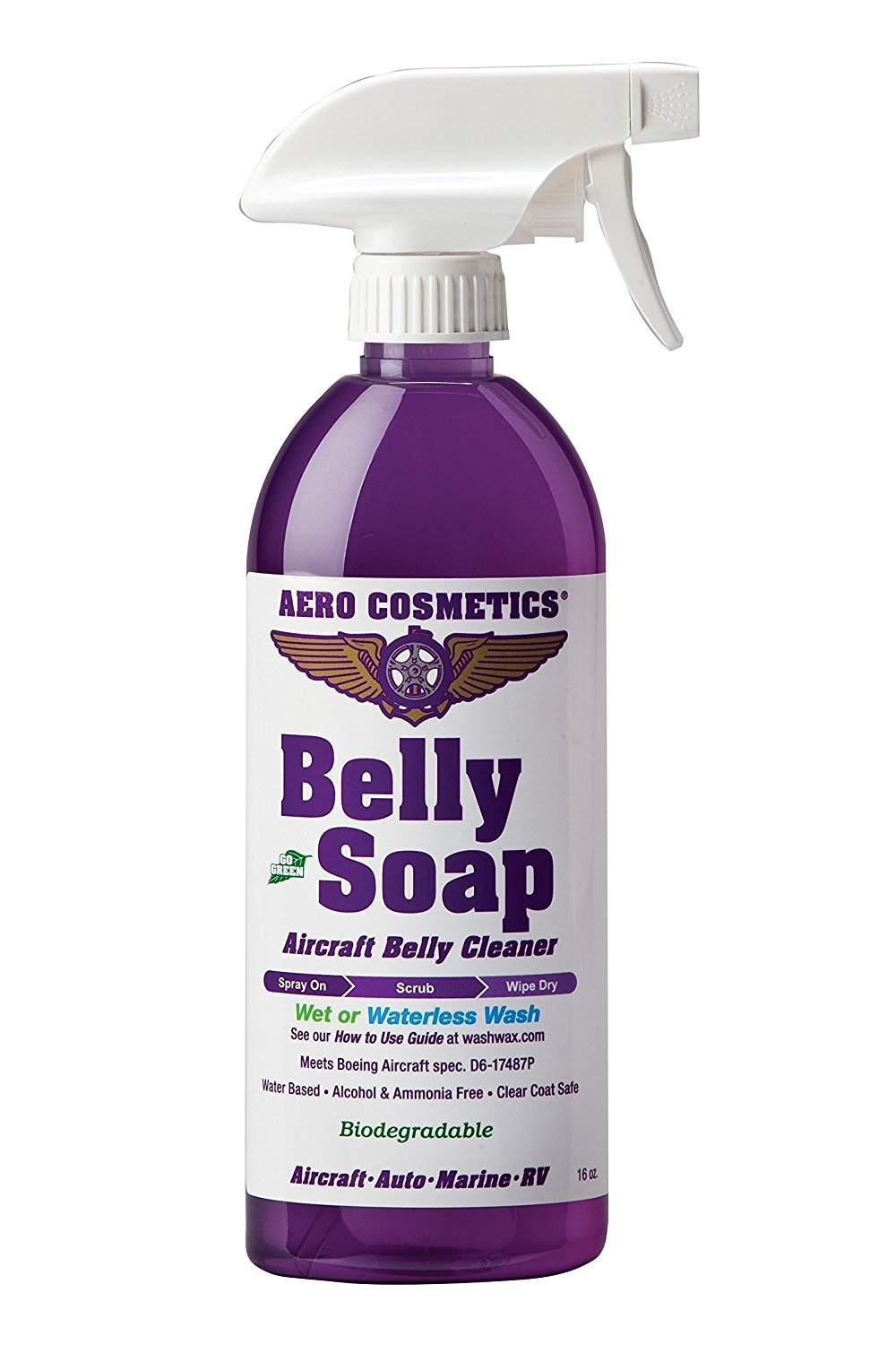 Aero Cosmetics Aircraft Belly Cleaner Super Degreaser, Hydraulic Fluid Remover, Tire Soap, Tire Cleaner, Engine Cleaner, Exhaust Soot Remover