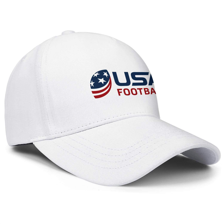 ahtbht USA Football Logo Snapback Caps Hip Hop Athletic Mens Baseball Cap