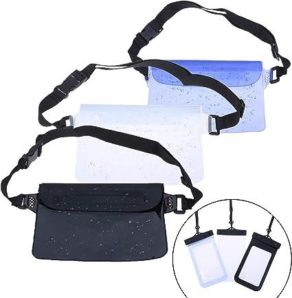 Phone Waterproof Bag Underwater Pouch Waist Belt Pack Swimming Dry Case PVC