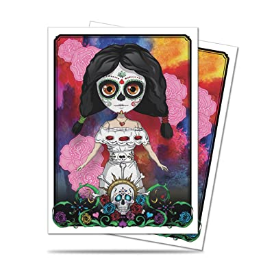"Dia de los Muertos ""Calavera Doll"" Standard Size Deck Protector Sleeves (50 count pack): Toys & Games"