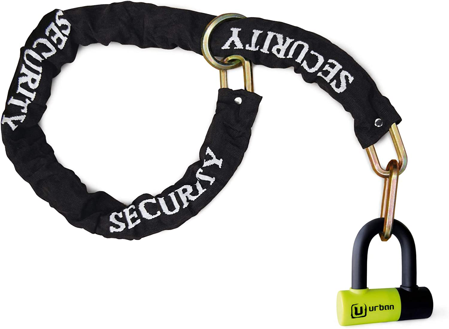 Urban Security Ur59120 Candado Antirrobo Mini U con Cadena Lazo 120 cm