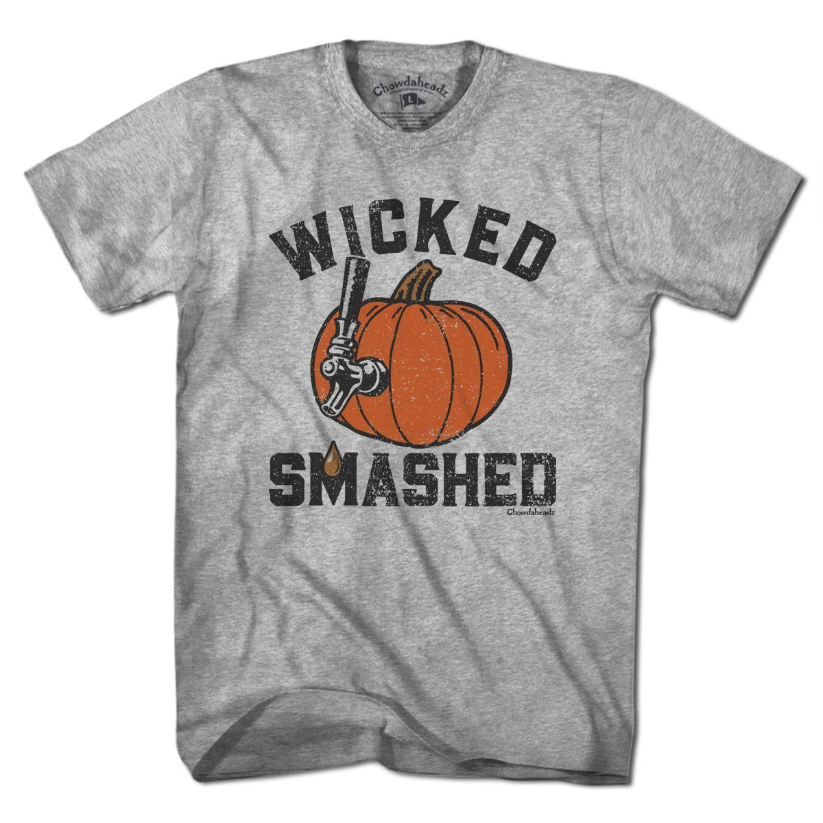 Wicked Smashed Pumpkin By Chowdaheadz Shirts