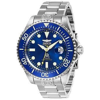 Invicta 27611 Pro Diver Reloj para Hombre acero inoxidable Automático Esfera azul: Amazon.es: Relojes