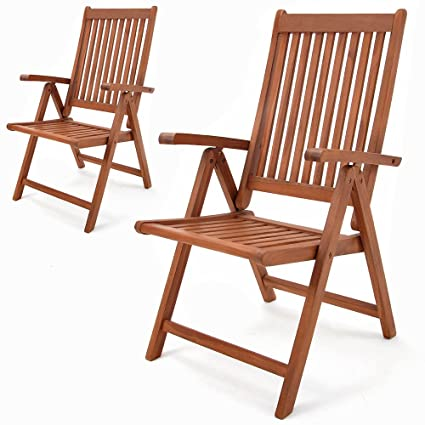 Gartenstuhl Holz Klappbar.Deuba 2er Set Gartenstuhl Vanamo Eukalyptus Holz Klappbar Klappstuhl Hochlehner Klappstühle Klappsessel Gartenmöbel