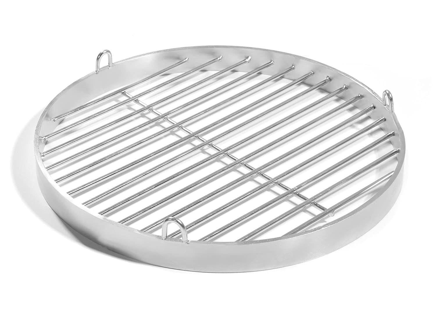 80 cm with Grip Eyes, V2 A Stainless Steel Grill Pan, Schwenker Grill Grate Fire Bowl BBQ Trays Round Grill Grilltante