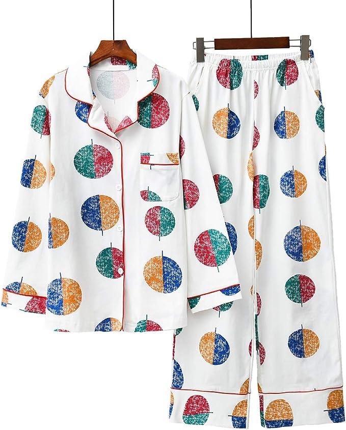 Conjunto de Pijamas de algodón de Manga Larga, Ropa de Dormir para ...