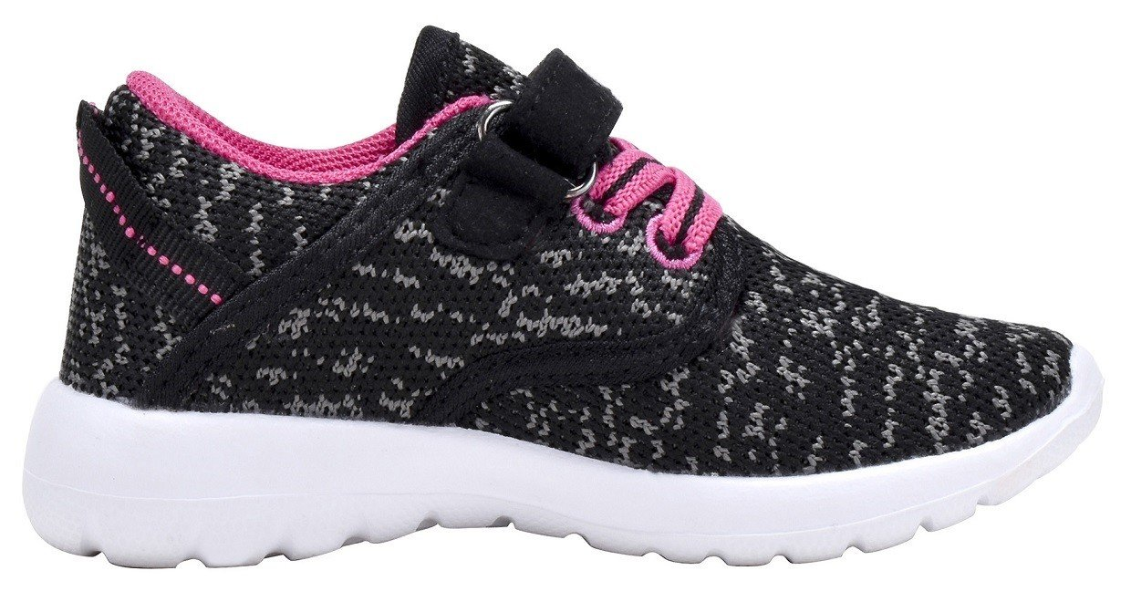 Toddler\'s Lightweight Sneakers Boys and Girls Cute Casual Running Shoes Multiple Colors (7 M US Toddler, Black/Fuchsia)