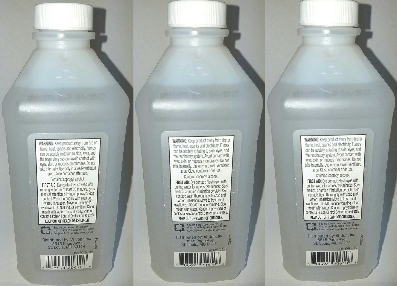 99% Isopropyl Alcohol Antiseptic Solution - 16 OZ - 3 Pack product image