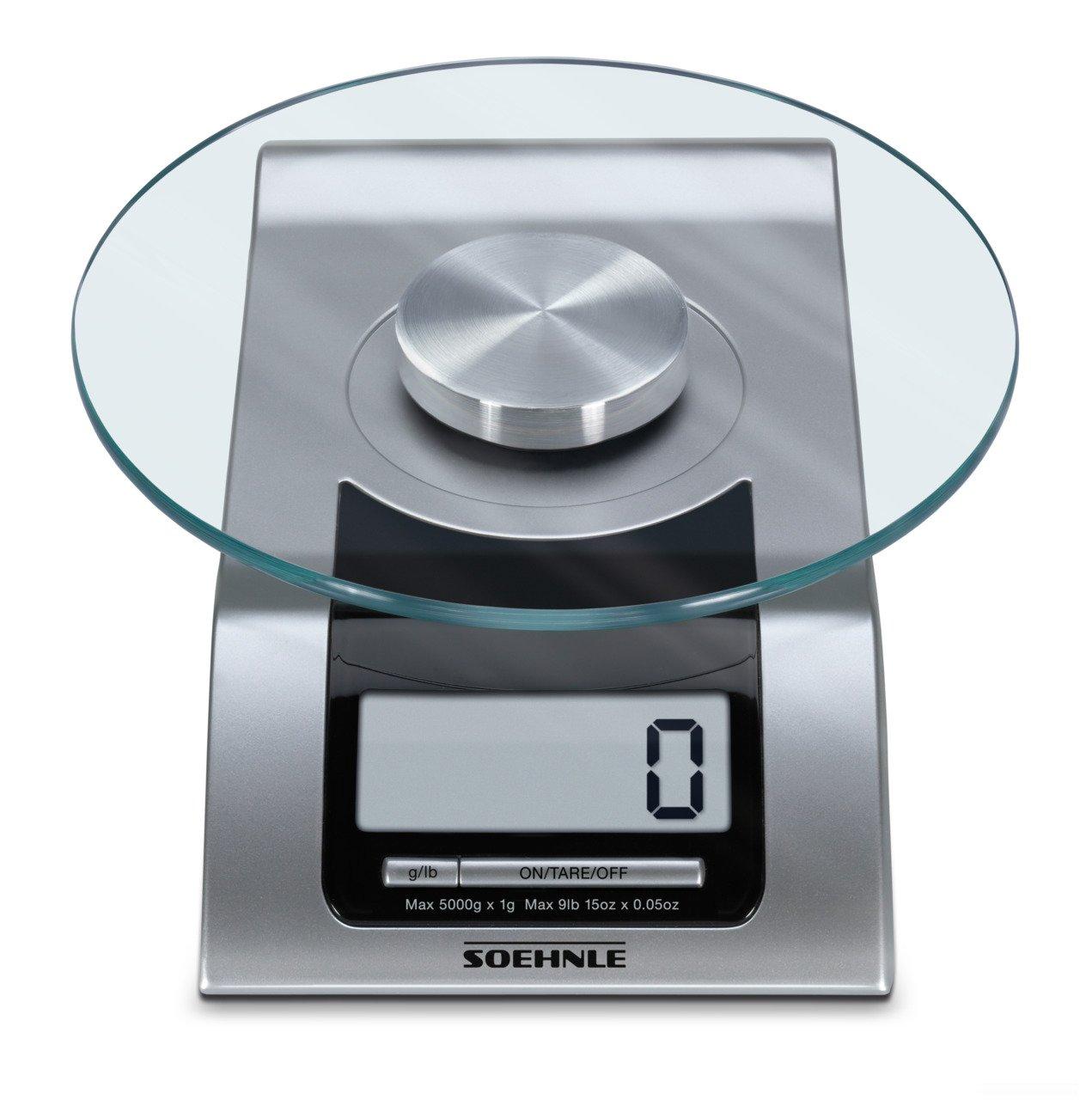 Amazon.com: Soehnle 65105, Style Digital Kitchen Scale, Silver ...