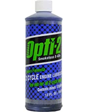 Opti-2 Smokeless Two-Cycle Engine Oil 340ml / 12 Fl.Oz Bottle with Fuel Stabilizer Will Mix 36 Liters / 10 Gallons of Fuel (21212)
