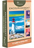 12 Pack Boxed Lighthouse Encouragement Cards Bulk with KJV Scripture - Greeting Cards Praying for you with Love Thinking of You
