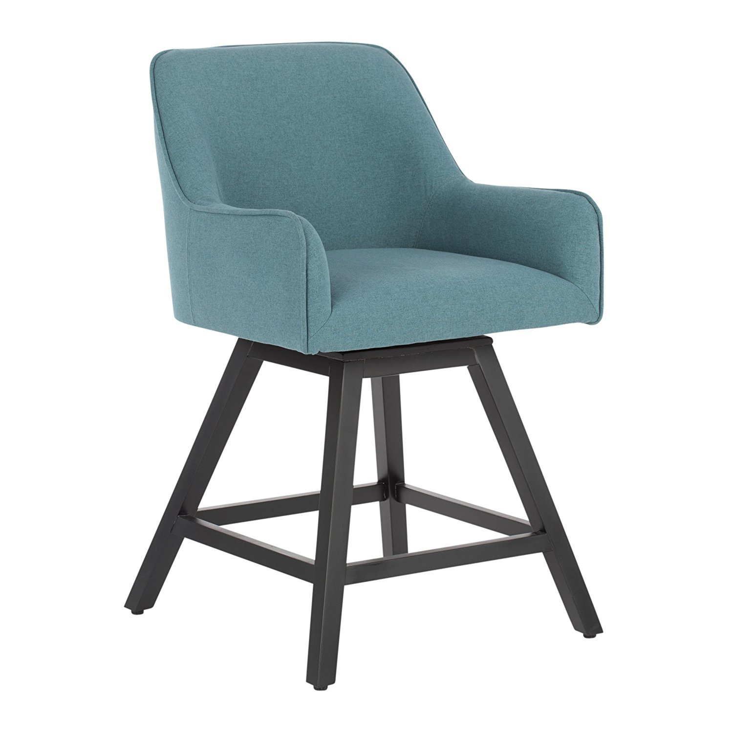 Studio Designs Home 70152 Contemporary Spire Swivel Upholstered Counter Stool, Baltic by Studio Designs Home