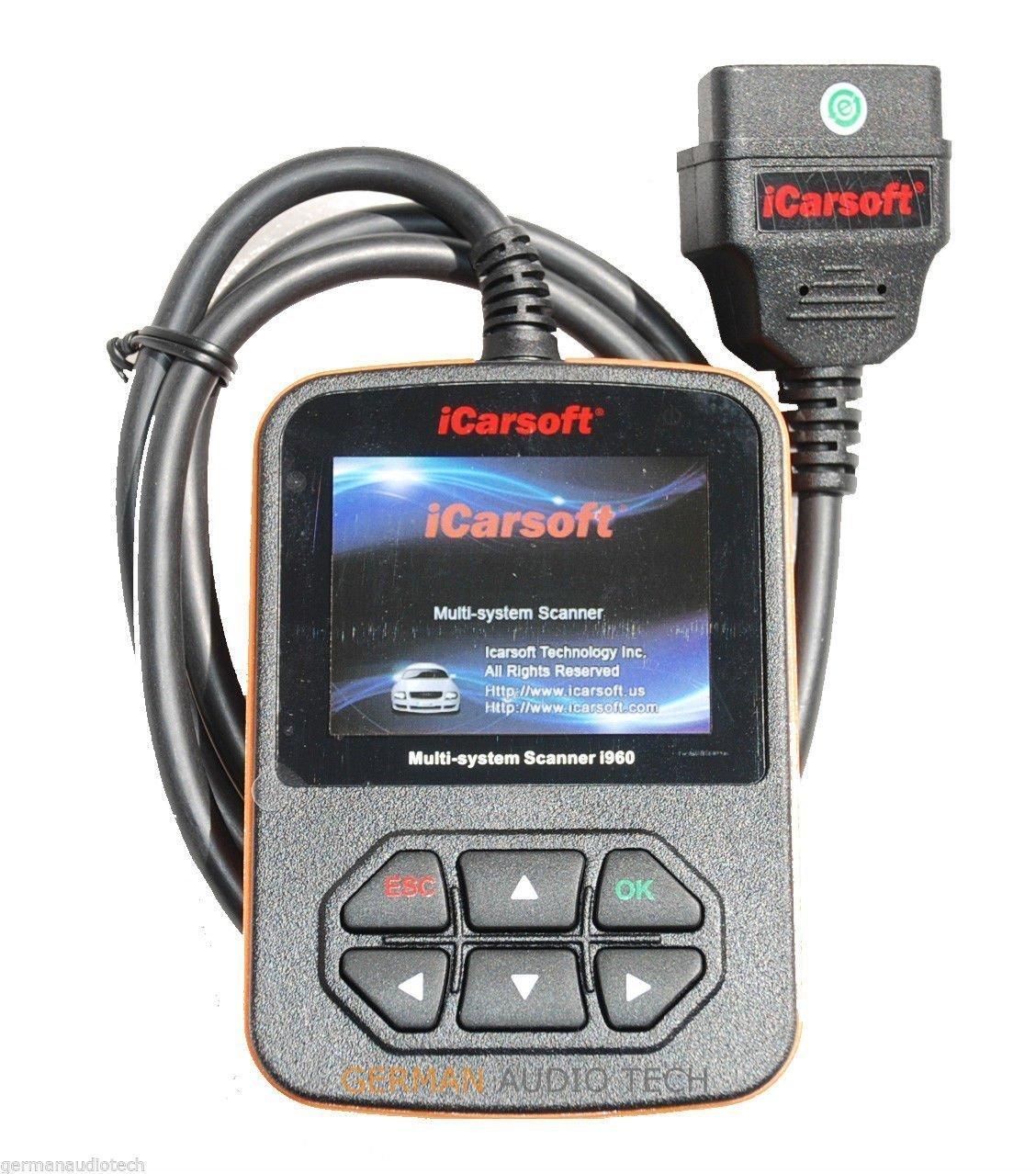 iCarsoft Porsche Obd2 Diagnostic Code Scanner Fault Erase