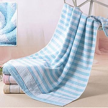 pllp Toalla de baño de algodón, adulto masculino y femenino envuelto en el pecho, toallas de baño de hotel de algodón súper suave,Azul,140x72cm: Amazon.es: ...