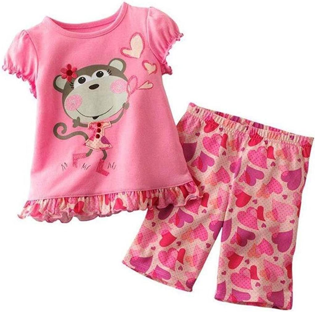 18m-6T Pandaprince Little Girl gorilla 2 Piece Pajama shorts 100/% Cotton