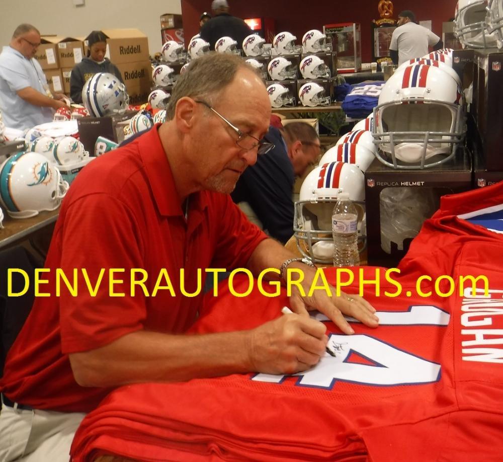 Steve Grogan Autographed/Signed New England Patriots Red XL Jersey JSA