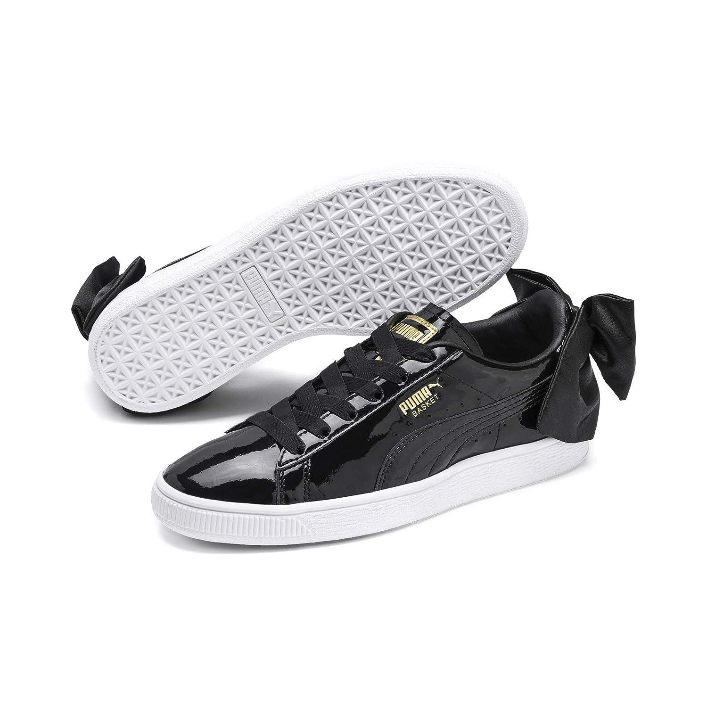 Basket Bow Patent Wn S Black W Sneakers